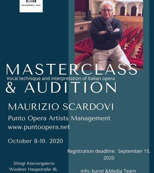 Masterclass & Auditions Vienna - Maurizio Scardovi